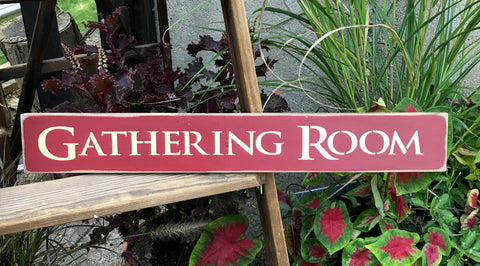 Gathering Room Sign, Wood Sign Saying, Housewarming Gift