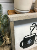 Grab A Cup Of Yummy Cheer, Hot Cocoa Bar Sign