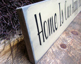 Home Is Our Happy Place, Wooden Home Sign