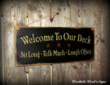 Wood Deck Sign