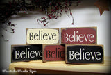 Little Believe Signs, Wooden Signs