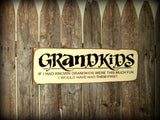 Grandkids Wooden Sign