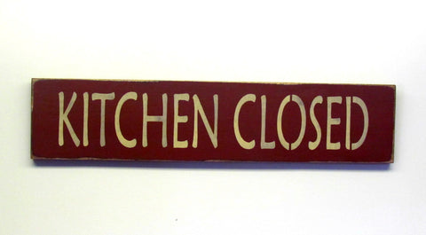 ... Kitchen Closed, Rustic Kitchen Sign ...