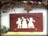 Snow Friends, Wooden Winter Sign