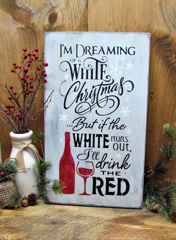 Winter Christmas Wooden Funny Sign, White Christmas ...