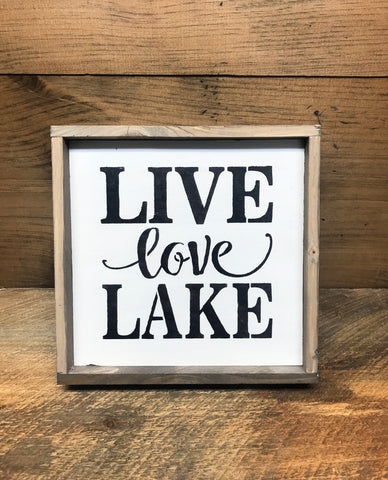 Live Love Lake, Wooden Lake Decor