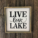 lake house decor, lake sign