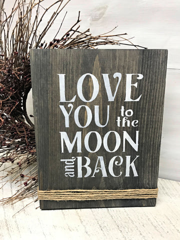 to the moon and back saying