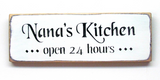 Nana's Kitchen, Wooden Sign