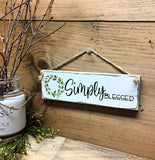 Simply Blessed, Little Wooden Sign, Mother's Day Gift, Hand Painted
