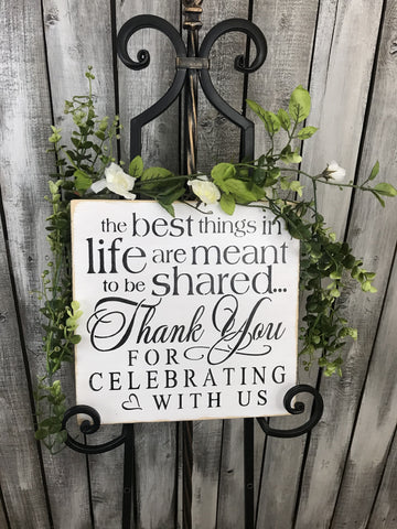 Rustic Wedding decor, Wedding Sign