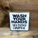Wash Your Hands, Bathroom Decor
