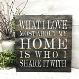Farmhouse Home Sign, Home Saying