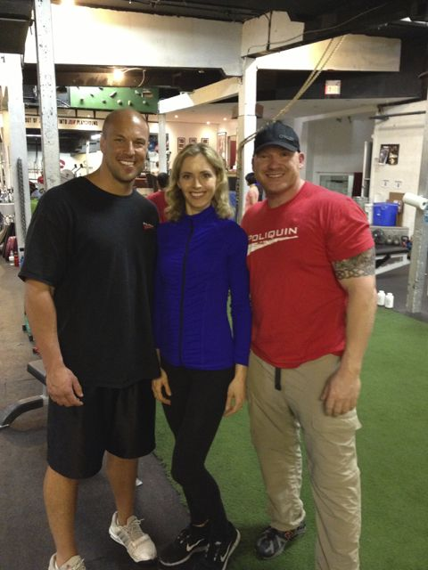Ivana with two muscular guys