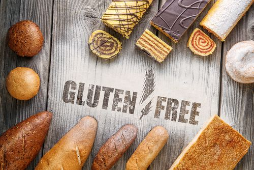 bread with gluten free writing