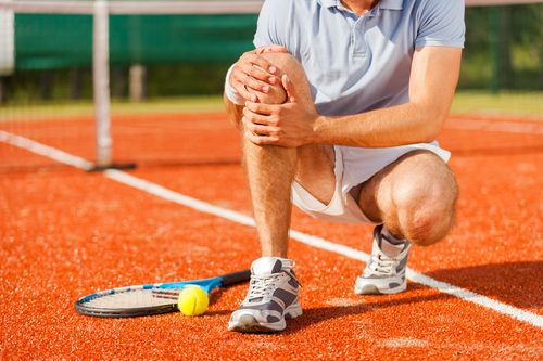 injury to knee during tennis