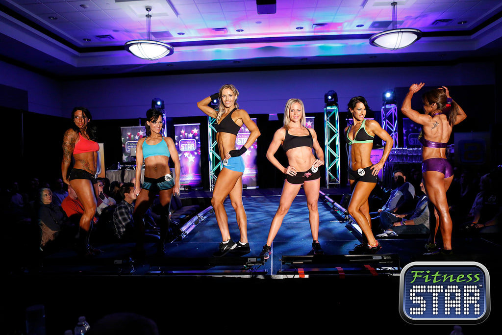 women fitness models on stage
