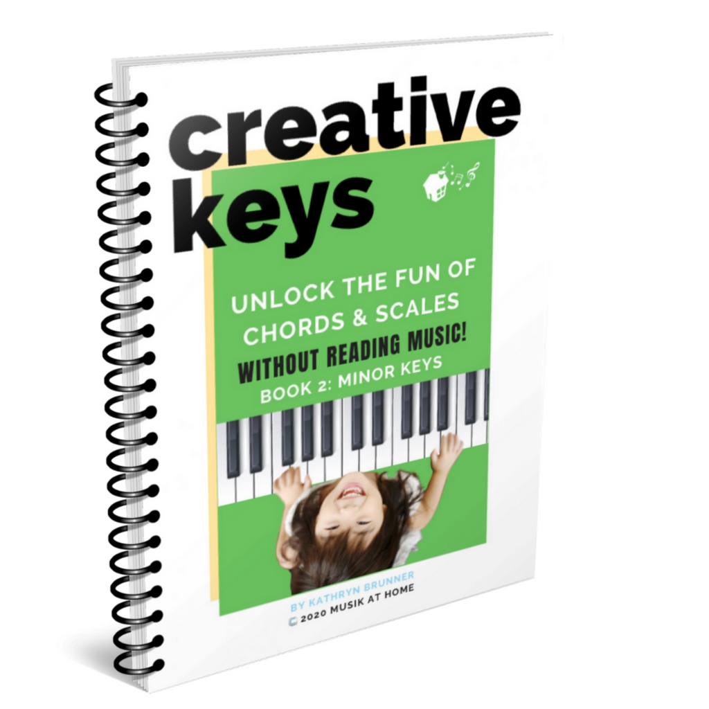 Creative Keys: Unlock the Fun of Chords & Scales without Reading Music! Book 2 - Minor Keys