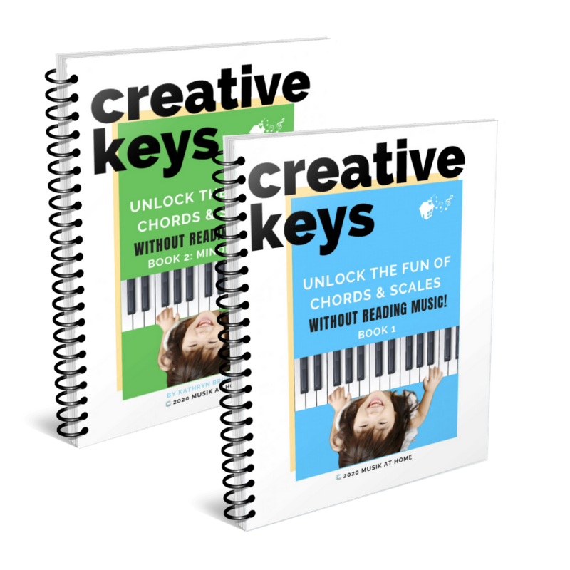 Creative Keys Bundle: Unlock the Fun of Chords & Scales Without Reading Music! Book 1 & Book 2