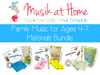 Family Music for Ages 4-7 Bundle: 3 Units