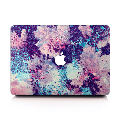 Abstract Purple Blossom MacBook Case-MacBook Case-MINZ-MINZ