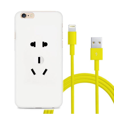 Electrical Outlet Matte iPhone 6 Case (with FREE Lightning Cable), , Phone Case, MINZ