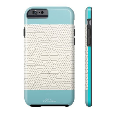Hexagon Maze Turquoise - iPhone Case - Minz - 2