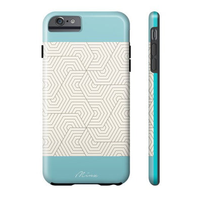 Hexagon Maze Turquoise - iPhone Case - Minz - 3
