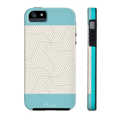 Hexagon Maze Turquoise - iPhone Case - Minz - 5