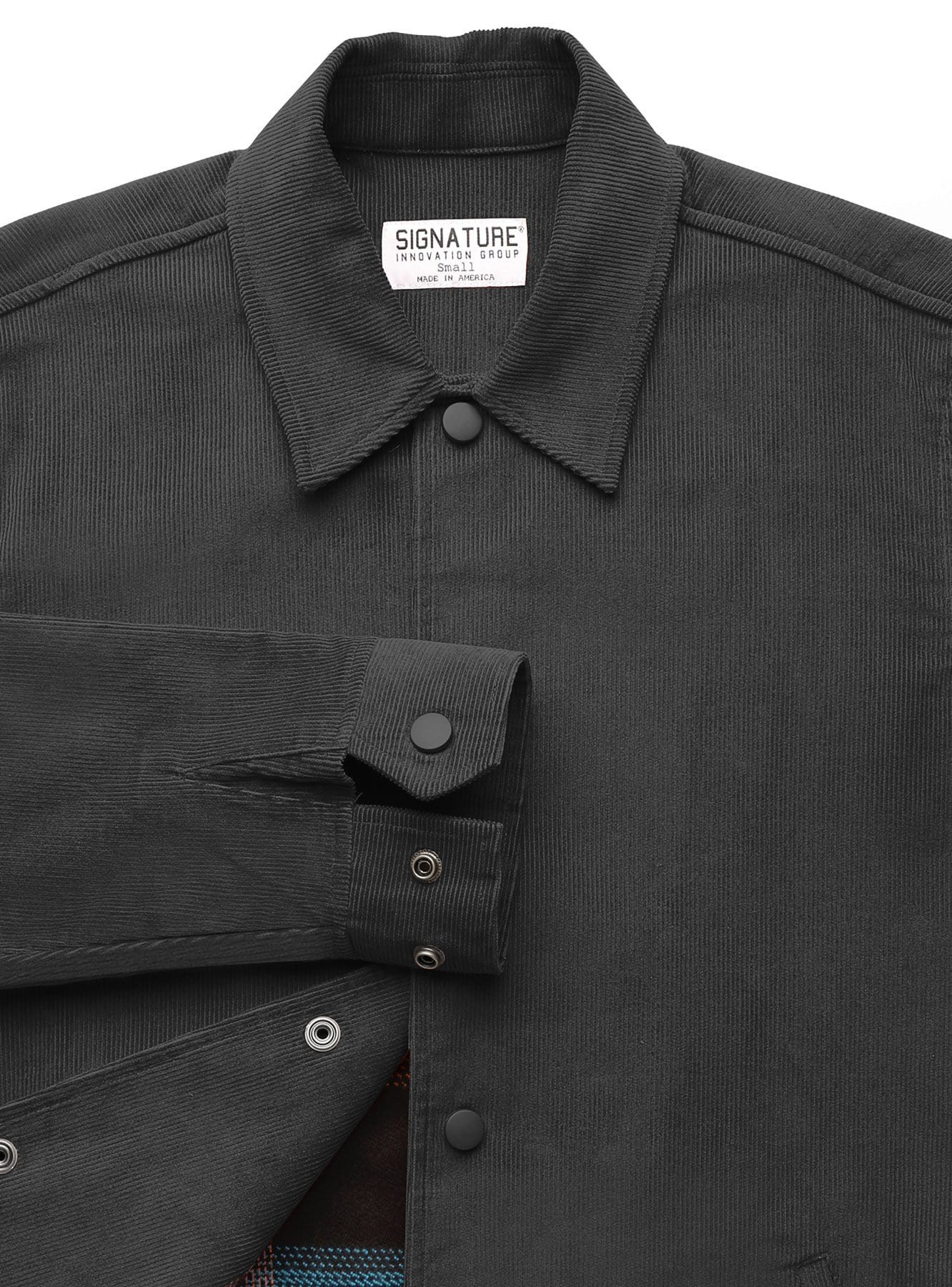 Corduroy Jacket in Black with Liner
