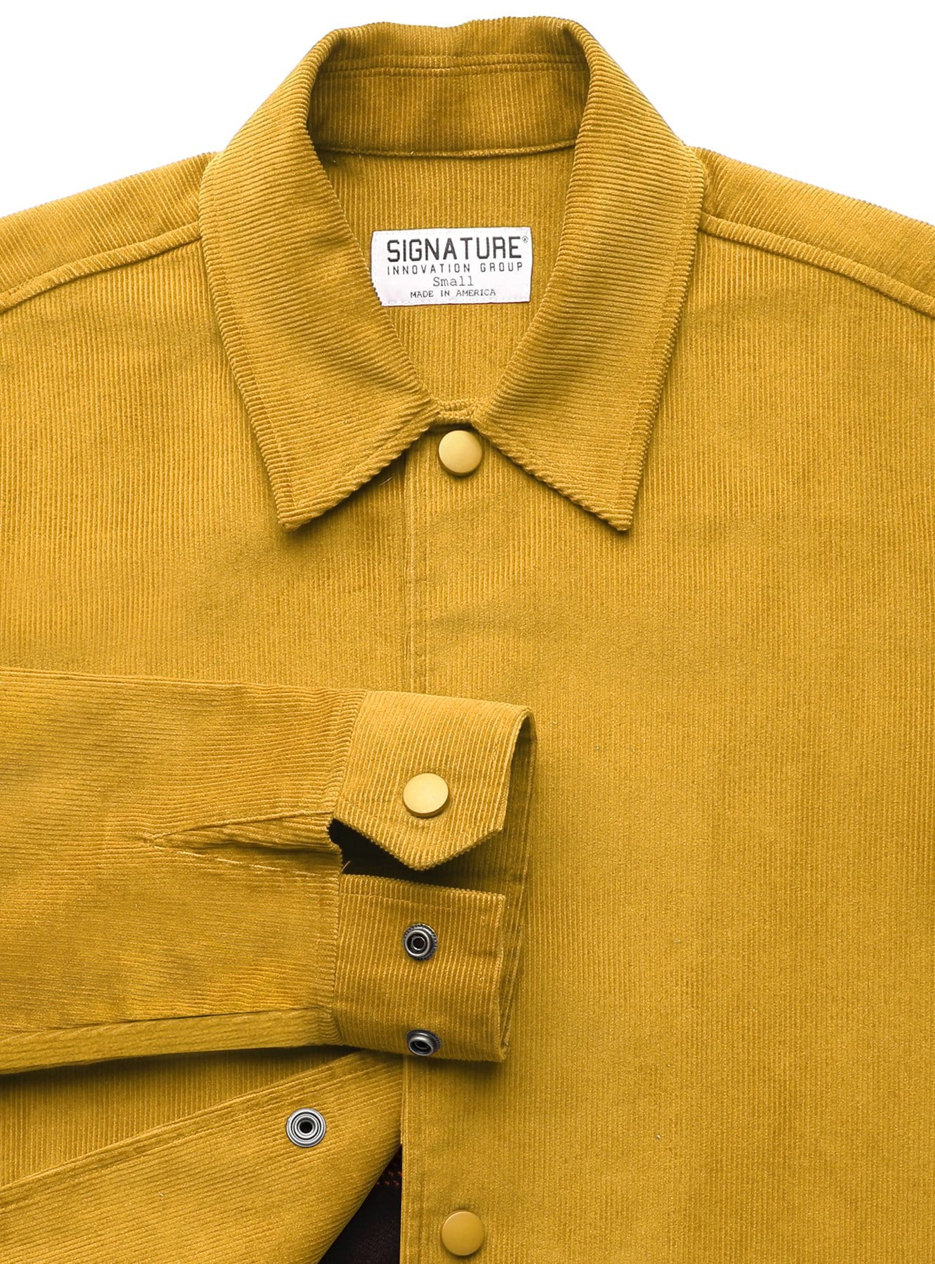 Corduroy Jacket in Mustard with Liner