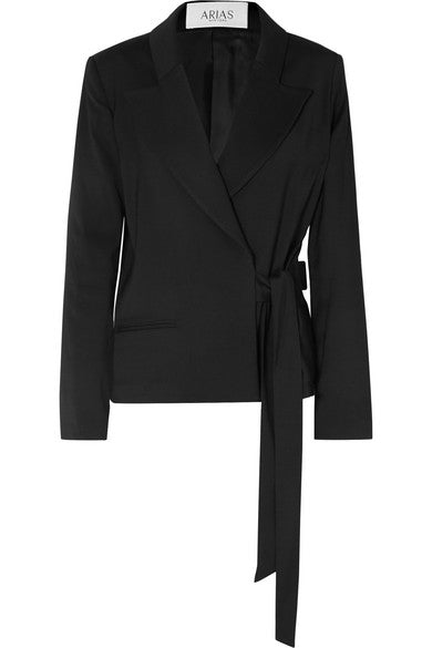 Side-tie jacket, made in New York