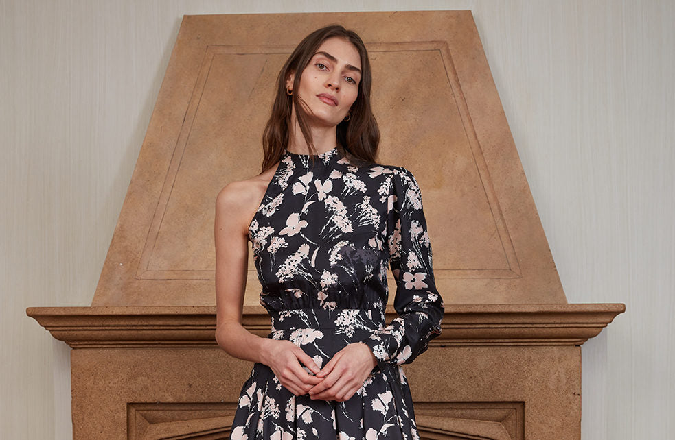 ARIAS One-Shoulder Floral Dress from the Fall/Winter 2019 collection