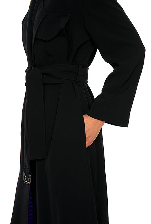 Twill Belted Trench Coat - 4