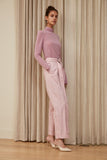 Crinkle Cotton Wide Leg Pant