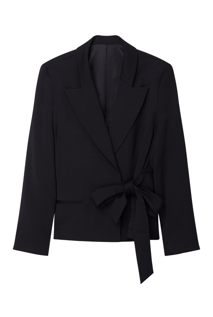 Tuxedo Jacket With Side Tie - 2