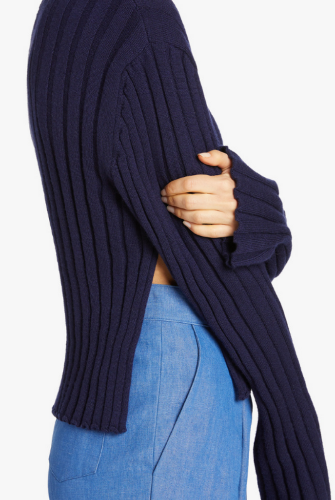 Ribbed Knit Sweater - SMALL