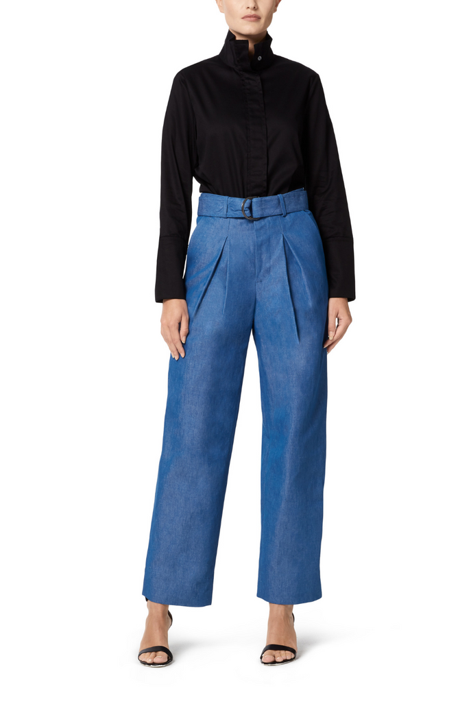 Denim Wide Leg Pant - 2