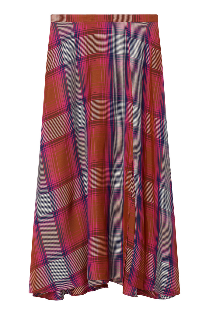 Plaid Circle Skirt - 2