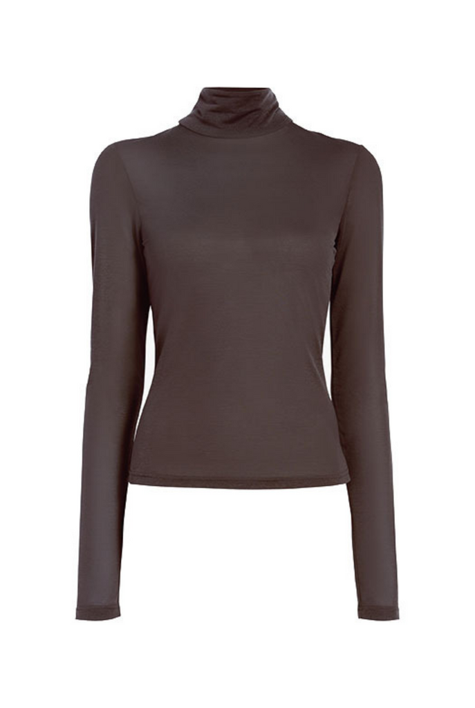 Semi-Sheer Turtleneck - SMALL
