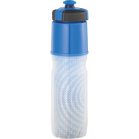 Blue custom squeeze water bottle