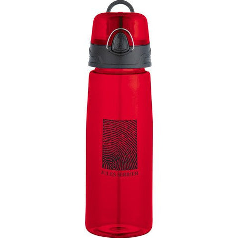 Red personalized BPA free plastic sports water bottle
