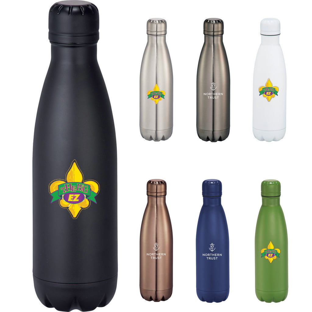 a01ef8024c Custom water bottle in White, titanium, silver, rose gold, navy, green