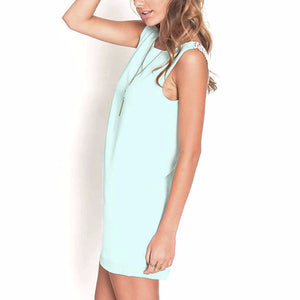 Mint Green Sleeveless Summer Dress