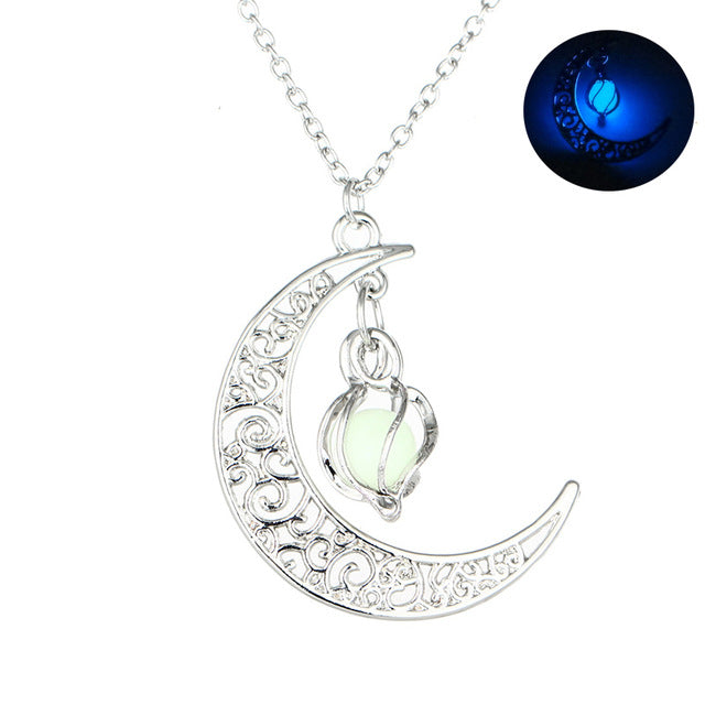Luminous Hollow Moon Pendant
