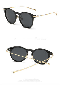 Minimal Black & Gold Sunglasses