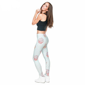 Cupcake Frenzy High Waist Leggings