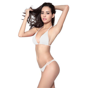 Maxmessy Push Up Bikini Set Bra Thong Swimsuits Swimwear Women Sexy Bikinis Set Bathing Suit Beach Bottom Swim Suit