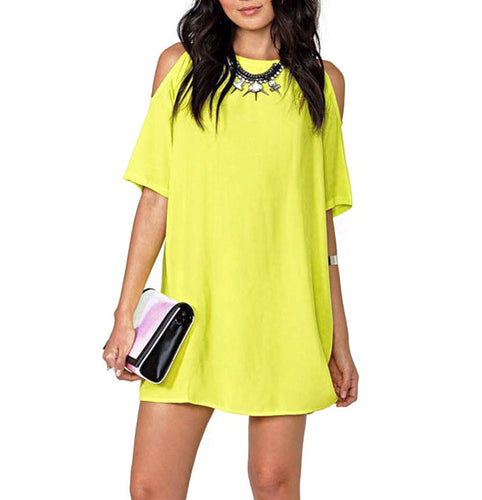 Lime Summer Mini Dress