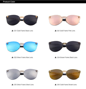 Reflective Skull Frame Sunglasses (6 Colors)